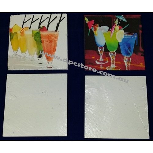 Sublimation Ink Natural Slate Square Blank Drinks Coasters