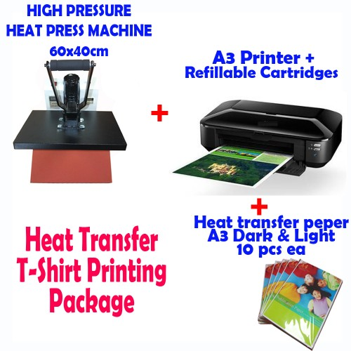 Heat Press A3 Printer T Shirt Heat Transfer Paper T Shirt