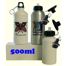 blank aluminum water bottle for sublimation white 500ml best for sublimation ink