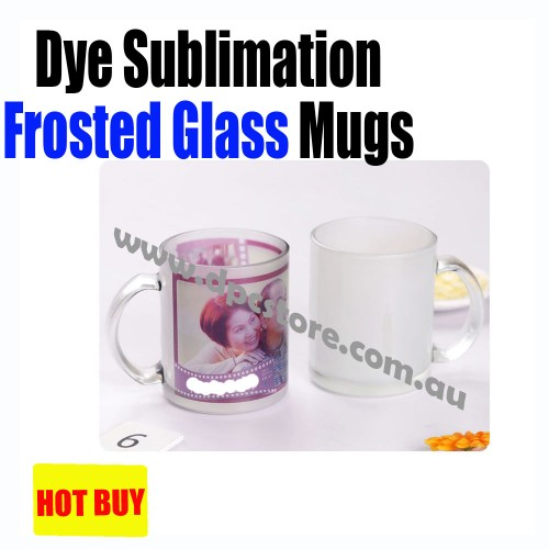 Frosted Glass Scrub Mug Cup BEST FOR SUBLIMATION INK