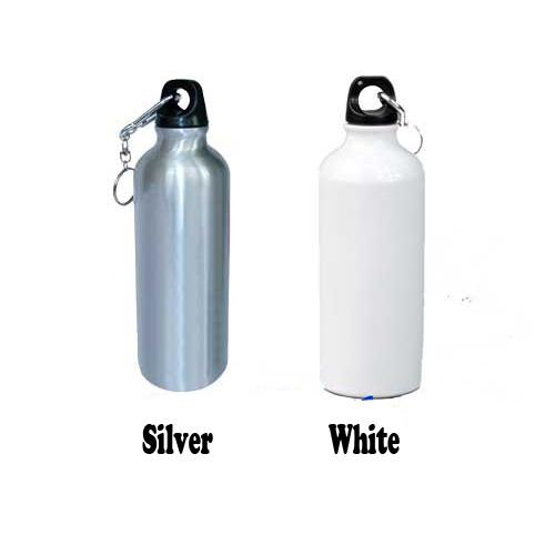 Blank Aluminum Water Bottle For Sublimation White 600ml