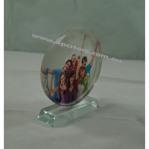 Sublimation Ink Glass Crystal Photo Block Stand Trophy